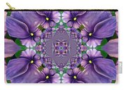 African Violet Wave Carry-all Pouch