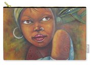 African Woman Portrait- African Paintings Carry-all Pouch