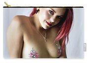 After Dark Model Mary Ann W Sparkles Carry-all Pouch
