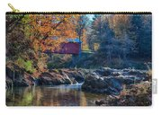 Afternoon Autumn Sun On Vermont Covered Bridge Carry-all Pouch