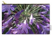Agapanthus Flowers In Purple - New And Old Carry-all Pouch