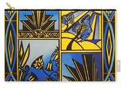 Art Deco In Blue Carry-all Pouch