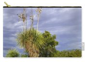 Agave Cactus And A Purple Sky Carry-all Pouch