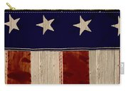 Aged Rustic American Flag Carry-all Pouch