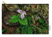 Aged White Trillium With Raindrops Carry-all Pouch