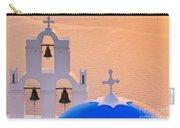 Aghioi Theodoroi Church At Firostefani, Santorini Carry-all Pouch