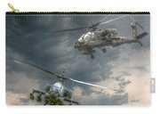 Ah-64 Apache Attack Helicopter In Flight Carry-all Pouch by Randy Steele