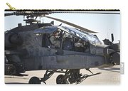 Ah-64d Apache Longbow Pilot Prepares Carry-all Pouch
