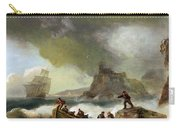 Ailing Ships On Rocks Carry-all Pouch