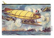Air Battle, 1900s French Postcard Carry-all Pouch