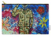 Air Force Day Of The Dead Carry-all Pouch