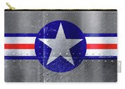 Air Force Logo On Riveted Steel Plane Fuselage Carry-all Pouch
