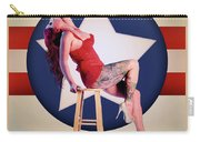Air Force Pinup With Calypso Jean Carry-all Pouch