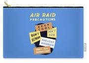 Air Raid Precautions - Ww2 Carry-all Pouch