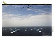 Aircraft Fly Over A Group Of U.s Carry-all Pouch
