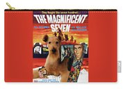 Airedale Terrier Art Canvas Print - The Magnificent Seven Movie Poster Carry-all Pouch