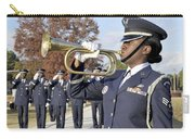Airman Plays Taps During The Veterans Carry-all Pouch by Stocktrek Images