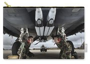 Airmen Check The Gbu-39 Small Diameter Carry-all Pouch by Stocktrek Images