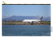 airplane on airport Corfu island Greece Carry-all Pouch