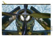 Airplane Propeller And Engine Navy Carry-all Pouch