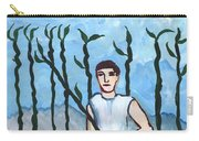 Airy Nine Of Wands Illustrated Carry-all Pouch