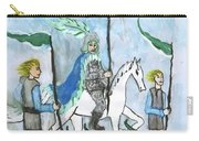 Airy Six Of Wands Illustrated Carry-all Pouch