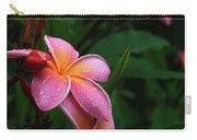 Akeakamai Pua Melia Tropical Plumeria Carry-all Pouch