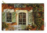Al Fresco In Cortile Carry-all Pouch by Guido Borelli