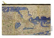 Al Idrisi World Map 1154 Carry-all Pouch by SPL and Photo Researchers
