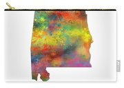 Alabama State Map Carry-all Pouch