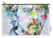 Alan Watts Watercolor Portrait Carry-all Pouch