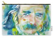 Alan Watts - Watercolor Portrait.4 Carry-all Pouch