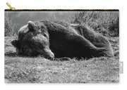 Alaska Grizzly - Do Not Disturb Grayscale Carry-all Pouch