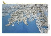 Alaska Map Wall Art Carry-all Pouch