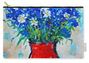 Albastrele Blue Flowers And Daisies Carry-all Pouch by Ana Maria Edulescu