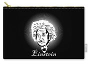 Albert Einstein Caricature On A White Glow Carry-all Pouch