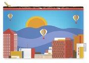 Albuquerque New Mexico Horizontal Skyline Carry-all Pouch