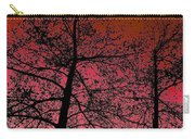 Alder Trees Against The Winter Sunrise Carry-all Pouch