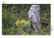 Alert Great Gray Owl Carry-all Pouch