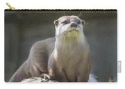 Alert Otter Amblonyx Cinerea Carry-all Pouch