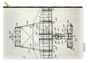 Alexander Graham Bell Airplane Patent Print, Plane Patent Blueprint Carry-all Pouch