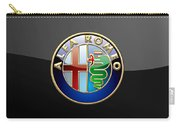 Alfa Romeo - 3 D Badge On Black Carry-all Pouch