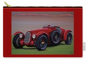 Alfa Romeo 8c 2900a Botticella Spider 1936 Painting Carry-all Pouch