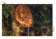 Alfred Berard And His Dog 1881 Carry-all Pouch