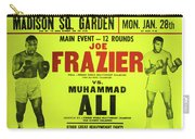 Ali Vs Frazier Boxing Poster Carry-all Pouch