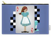 Alice 3d Flying Cards Carry-all Pouch