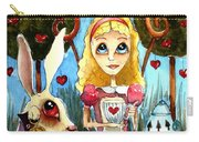Alice And The Rabbit Having Tea... Carry-all Pouch by Lucia Stewart