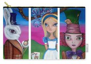 Alice In Wonderland Inspired Triptych Carry-all Pouch