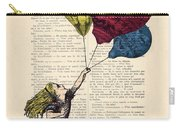 Alice In Wonderland With Big Colorful Balloons Carry-all Pouch