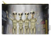 Alien Vacation - Beamed Up From Time Square Carry-all Pouch